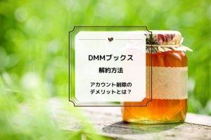 DMMブックス 解約方法 アカウント削除 デメリット